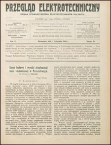 Przegląd Elektrotechniczny 1923 nr 21
