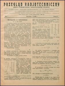 Przegląd Radjotechniczny 1923 nr 9