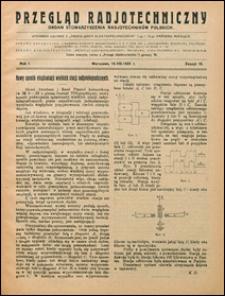 Przegląd Radjotechniczny 1923 nr 16