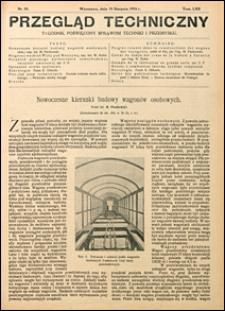 Przegląd Techniczny 1924 nr 35
