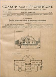 Czasopismo Techniczne 1918 nr 6