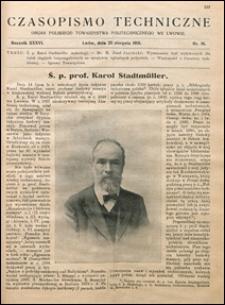 Czasopismo Techniczne 1918 nr 16