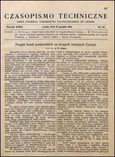 Czasopismo Techniczne 1918 nr 23