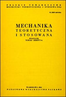 Mechanika Teoretyczna i Stosowana 1984 z.3-4