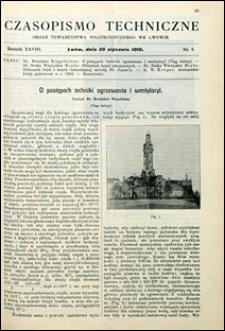 Czasopismo Techniczne 1910 nr 2