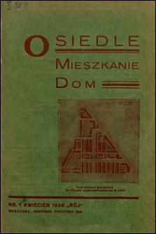 Osiedle, Mieszkanie, Dom 1929 nr 1