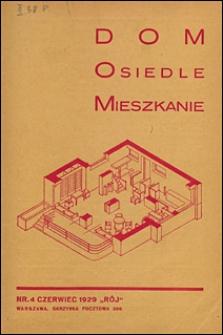 Dom, Osiedle, Mieszkanie 1929 nr 4