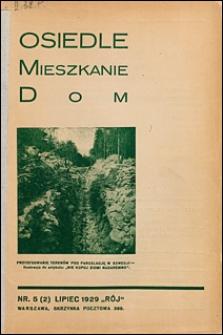 Osiedle, Mieszkanie, Dom 1929 nr 5 (2)