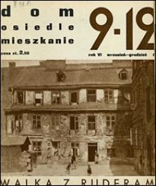 Dom, Osiedle, Mieszkanie 1934 wrzesień - grudzień
