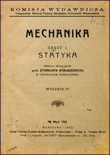 Mechanika : według wykładów Zygmunta Straszewicza. Cz. 1, Statyka.