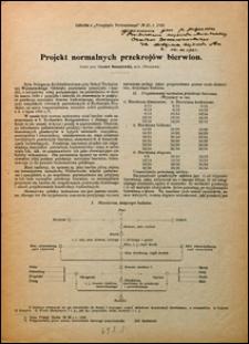 Projekt normalnych przekrojów bierwion