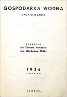 Gospodarka Wodna 1936 Spis Rzeczy