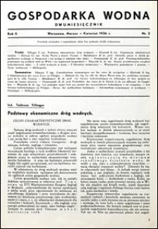 Gospodarka Wodna 1936 nr 2
