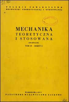 Mechanika Teoretyczna i Stosowana 1977 nr 2