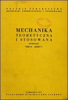 Mechanika Teoretyczna i Stosowana 1977 nr 3