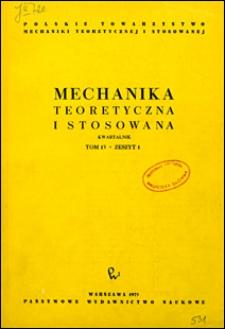 Mechanika Teoretyczna i Stosowana 1975 nr 1