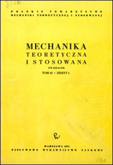 Mechanika Teoretyczna i Stosowana 1974 nr 1