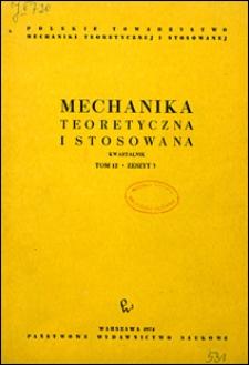 Mechanika Teoretyczna i Stosowana 1974 nr 3