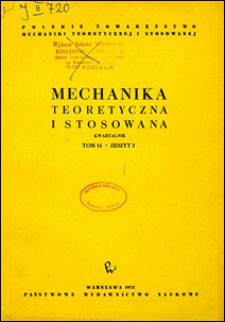 Mechanika Teoretyczna i Stosowana 1973 nr 2