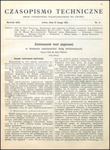 Czasopismo Techniczne 1912 nr 4