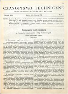 Czasopismo Techniczne 1912 nr 6
