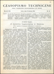 Czasopismo Techniczne 1912 nr 10