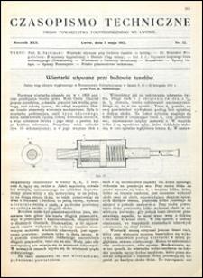 Czasopismo Techniczne 1912 nr 12