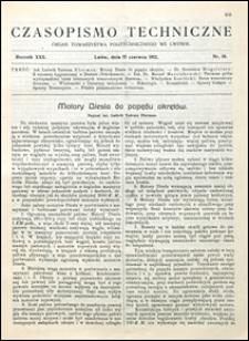 Czasopismo Techniczne 1912 nr 16