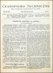 Czasopismo Techniczne 1912 nr 20