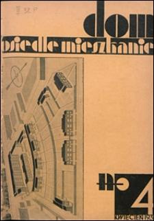 Dom, Osiedle, Mieszkanie 1930 nr 4