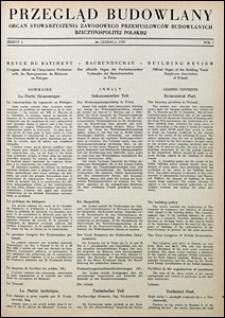 Przegląd Budowlany 1929 nr 5