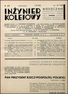 Inżynier Kolejowy 1938 nr 3
