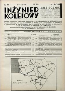 Inżynier Kolejowy 1938 nr 4