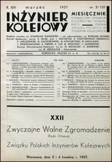 Inżynier Kolejowy 1937 nr 3