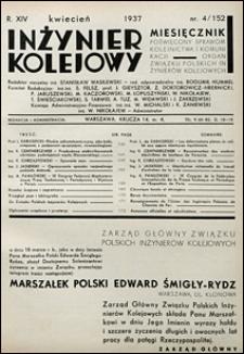 Inżynier Kolejowy 1937 nr 4