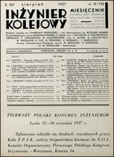 Inżynier Kolejowy 1937 nr 8