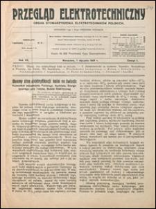 Przegląd Elektrotechniczny 1925 nr 1