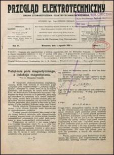 Przegląd Elektrotechniczny 1924 nr 1