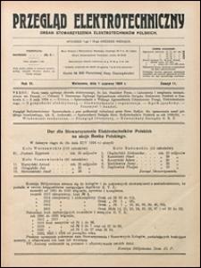 Przegląd Elektrotechniczny 1924 nr 11