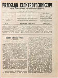 Przegląd Elektrotechniczny 1924 nr 14-15