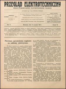 Przegląd Elektrotechniczny 1924 nr 18