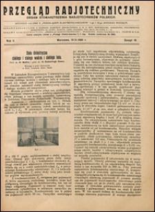 Przegląd Radjotechniczny 1924 nr 18