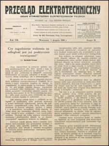 Przegląd Elektrotechniczny 1926 nr 15
