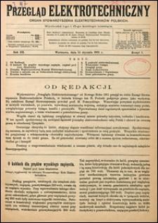 Przegląd Elektrotechniczny 1921 nr 1