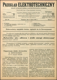 Przegląd Elektrotechniczny 1921 nr 5