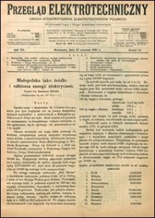 Przegląd Elektrotechniczny 1921 nr 11