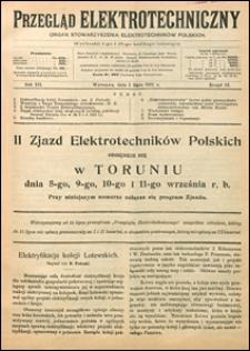 Przegląd Elektrotechniczny 1921 nr 12