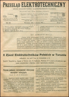 Przegląd Elektrotechniczny 1921 nr 14