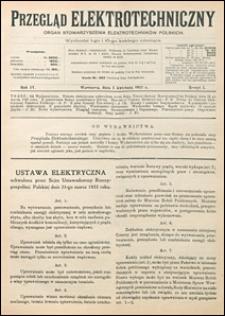 Przegląd Elektrotechniczny 1922 nr 7
