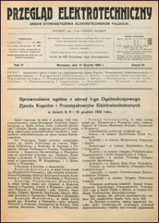 Przegląd Elektrotechniczny 1922 nr 24